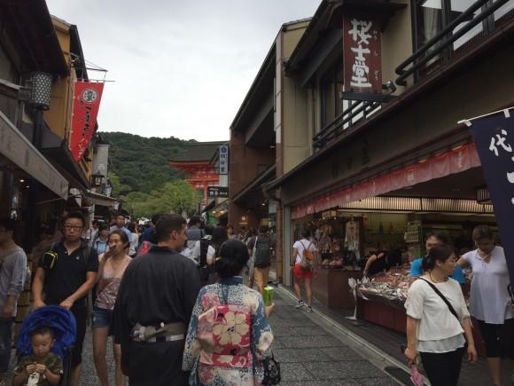 Souvenir shop in kiyomizu temple